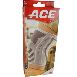 Ace Knitted Knee Brace with Side Stabilizers, Model 207355  1.0ea