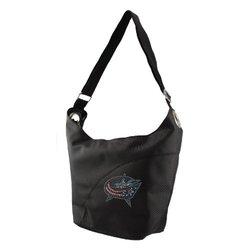 NHL Columbus Blue Jackets Sport Noir Sheen Hobo Bag, Black