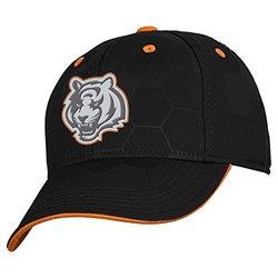 NFL Cincinnati Bengals Boys 8-20 Structured Flex Fit Cap, Youth One Size, Black
