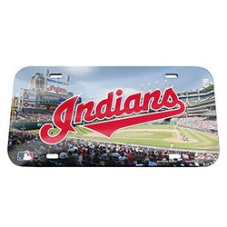 "WinCraft 6""x12"" MLB Cleveland Indians Stadium Crystal Mirror License Plate"