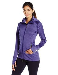 Tamagear Women's Saddleback Full Zip Mid-Layer Jacket, Blueberry, X-Small