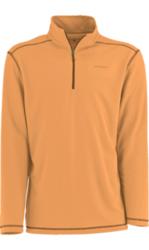 White Sierra Techno Long-Sleeve 1/4 Zip T-Shirt - Apricot - Size: XL