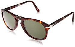 Persol 52mm Unisex Havana Sunglasses - Tortoise/Green (PO0714)