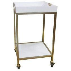 "Threshold 18"" x 18"" Bar Cart with Square Trays - White"