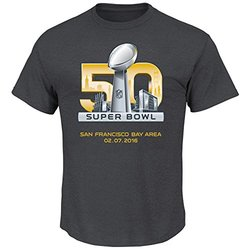 NFL Super Bowl Men's Superbowl 50 Tee - Charcoal Heather - Size: Small
