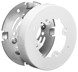 Hubbell Wiring Systems Steel Metal Raceway Round Extension Box - White