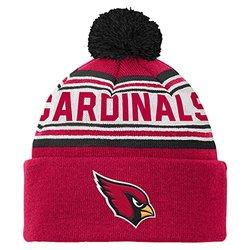 NFL Arizona Cardinals Youth 8-20 Cuffed Knit Pom Hat, One Size, Cardinal