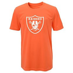 NFL Oakland Raiders Boys Performance T-Shirt - Neon Orange - Size: XL(18)