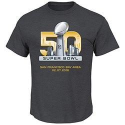 VF LSG NFL Super Bowl Men's SB 50 1 HL T-Shirt - Charcoal Heather - Sz: M