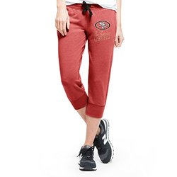 NFL San Francisco 49ers Women's '47 Forward Stride Capri Pants, Shift Red, Medium