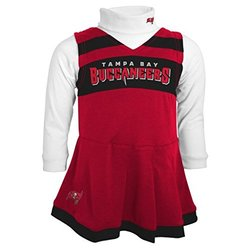 NFL Girls Tampa Bay Buccaneers Cheer Jumper Dress - Red - Size: Medium