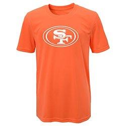NFL San Francisco 49ers Boys Performance Tee - Neon Orange - Size: Medium