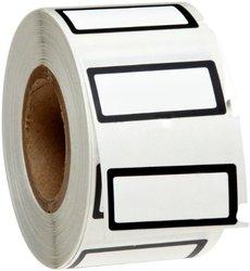 """Brady B-619 Polyester Matte Finish White w/ 1/16"""" Border Label - Black"""