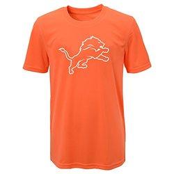 NFL Detroit Lions Boys Performance T-Shirt - Neon Orange - Size: M