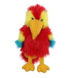 The Puppet Hand Puppet Baby Birds Scarlet Macaw Soft Doll Plush Toy
