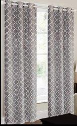 """CHD Home Textiles 38"""" x 84"""" Camisiea Curtain Panel - Grey/White"""