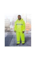ONGUARD 72152 PVC on Polyester Visitex II Bib Overall with Fly Front, Yellow, Size X-Large
