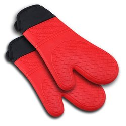 Magnificent Home Supply Silicone Oven Mitt - Red