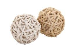 Plutus Brands 2 Assorted Superior Quality Plant Material Jute Balls