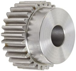 "Boston Gear 12 Pitch 0.75"" Bore 2.5"" OD 1.0""W Face Spur Gear (YD28)"