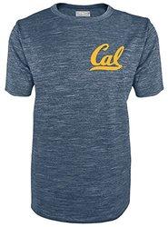 Majestic NCAA California Golden Bears Men's Crew Neck Tees - Navy - XXL