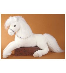 Plush Grace White Horse
