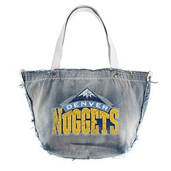 Little Earth Denver Nuggets NBA Vintage Tote Handbag - Denim
