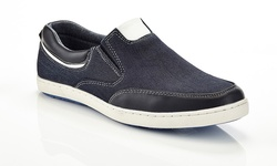 Marco Vitale Men's Casual Sneakers - Black - Size: 9.5