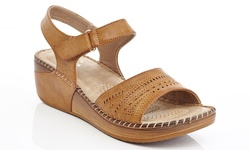 Lady Godiva Women's Comfort Wedge Sandals - Tan - Size: 10