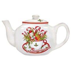 Holiday Teacup Teapot