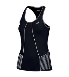 Asics Women's Lite Show Running Tank Top - Black - Size: Large