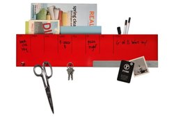 Three By Three Sort It Out Wall Caddy - Red