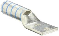 "Panduit LCCX350-38D-6 Flex Conductor Lug, Two Hole, Long Barrel With Window, 3/8"" Stud Hole Size, 1.00"" Stud Hole Spacing Width, Blue, 350 kcmil Class G/H/I/K/M Conductor Size, 373.7 kcmil Diesel Locomotive Conductor Size, 2-9/16"" Wire Strip Length, 0.22"""
