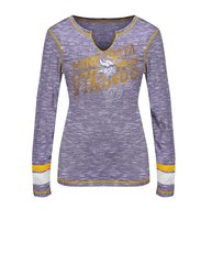 VF LSG NFL Women's Crew Neck Tee - Purple Staccato/Classic Gold - Size: M