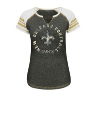 VF LSG NFL Women's V Split Neck Tee - C Blurry/White/H Gold - Size: XL