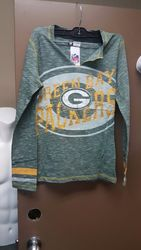 VF LSG NFL Women's Crew Neck Tee - D Green Staccato/Y Gold - Size: Large