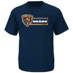 VF LSG NFL Men's Victory Gear VII T-Shirt - T Navy/C Orange - Size: Small