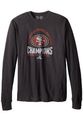 47 NFL San Francisco Men's NFC Champs Scrum Tee - Jet Black - Size: L