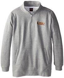 47 NCAA Louisana State University Men's Quarter Zip - Heather Grey - 2X