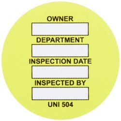 Brady Yellow Universal Tag Insert - 100/Package
