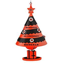 NFL Cincinnati Bengals Tree Bell Ornament - Red/Black
