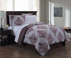 8-piece Comforter Set Biab: Mari/queen/red
