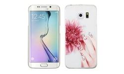 Insten Slim Hard Rubberized Case for Samsung Galaxy S6 Edge - Red/White