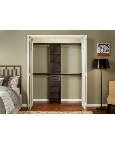 ClosetMaid Impressions 16 In. Chocolate Narrow Closet Kit ...