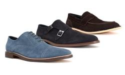 Joseph Abboud Men's Casual Suede Shoes - Alfie-Chocolate - Size: 10.5