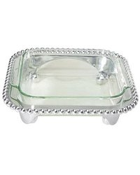 Mariposa Pearled Squared Casserole Caddy