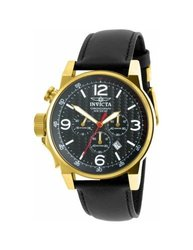 Invicta Men's Chronograph Watch: 20135SYB/Black Band-Black Dial