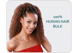 """Janet Encore French/Spanish Bulk Human Hair Blend Brading Hair 18"""""""