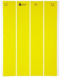 "1.875""Wx0.833""H B-747 Lasertab Laser Printable Label - Pk of 2500 - Yellow"