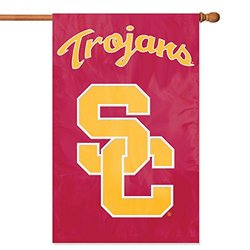 "NCAA University of Southern California Trojans Applique Banner - 28"" x 44"""